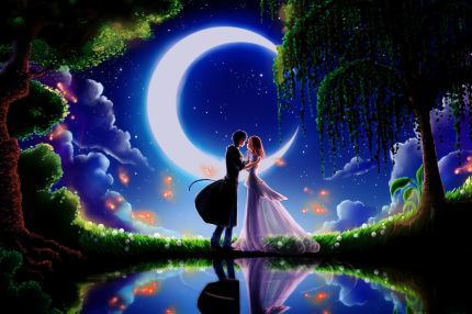 Night-Moon-Couple-Love-Dating